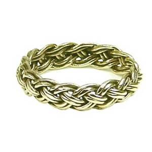 Plaited Viking Ring Bronze Symbol Folklore Jewelry - Neu