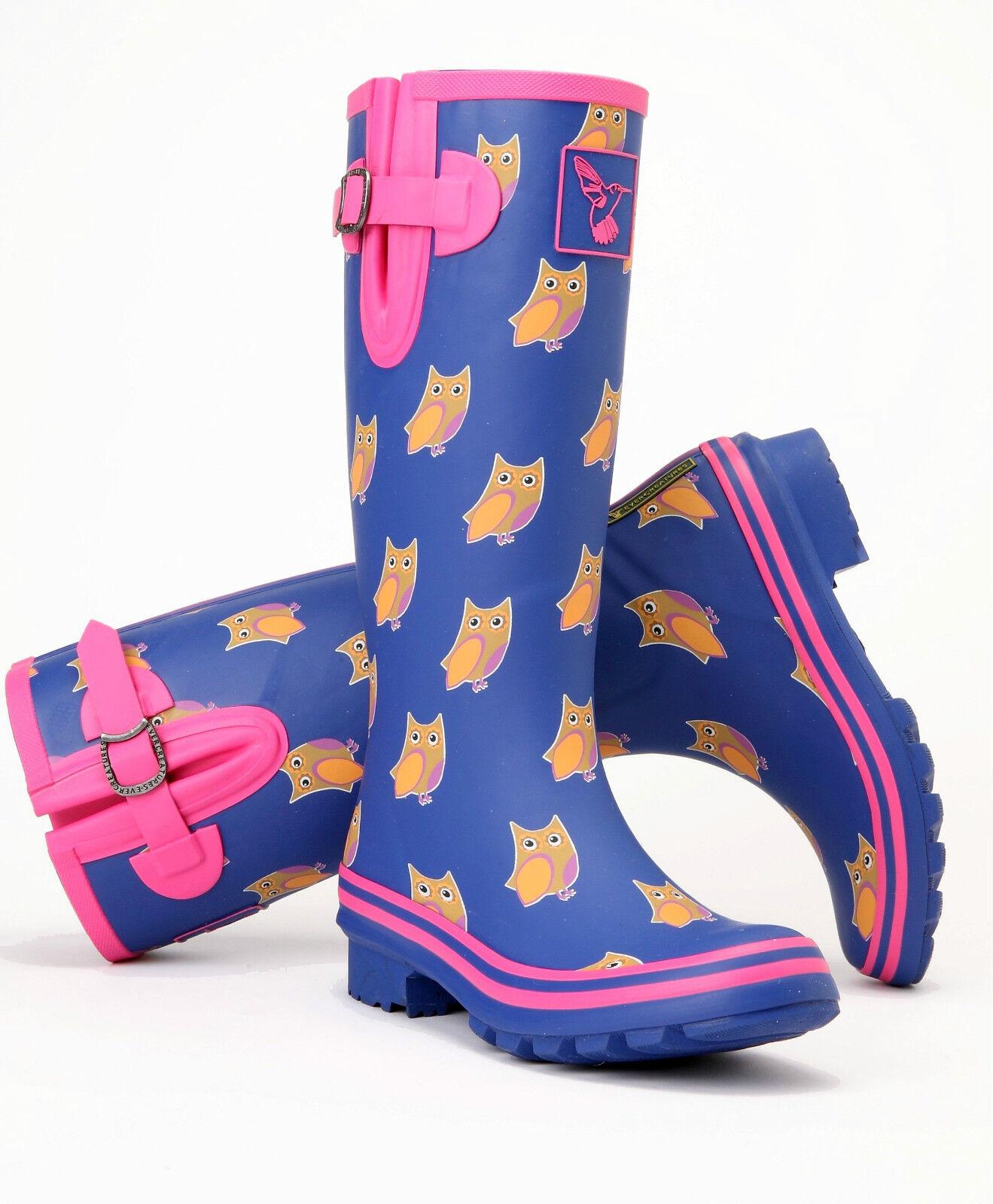 Evercreatures Stivali Di Di Di Gomma Donna Stivali Invernali Stivali pioggia gomma WELLINGTONS FESTIVAL | Moda Attraente  | Scolaro/Ragazze Scarpa  b89a35