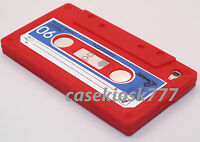 Fit Ipod Touch 4th 4 Th 4 Gen Itouch Case Cassette Tape Red Blue Soft Silicone\