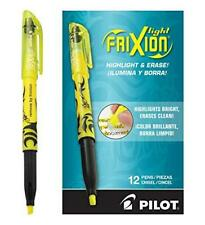 Pilot Frixion Light Erasable Highlighters Chisel Tip Yellow Ink 12 Pack