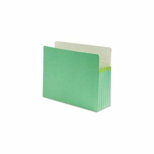 "Smead 73236 Green Colored File Pockets - Letter - 8.50"" X 11"" - 5.25"" Expansion"