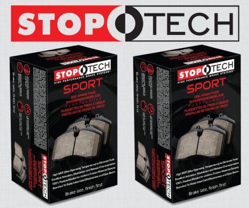 FRONT + REAR SET STOPTECH Sport Performance Disc Brake Pads STP37729