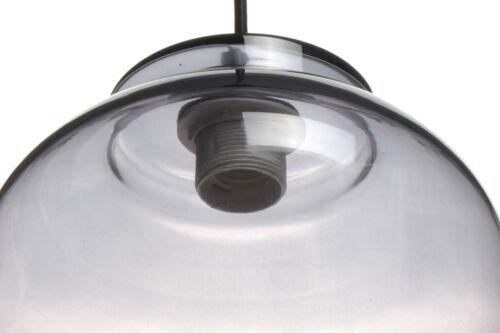 Glas Lampe Glocke Hängeleuchte Hängelampe Klar Glas Grau