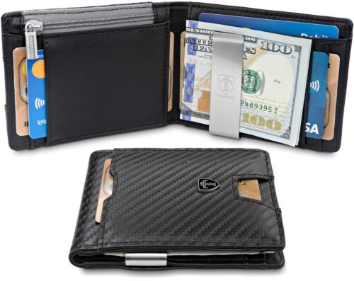 Money Clip Wallet for Coins LONDON Slim Credit Card Trave with Gift Box TRAVANDO