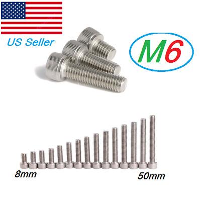 100pcs Metric Thread M3x30mm 304 Stainless Steel Hex Socket Head Cap Screw