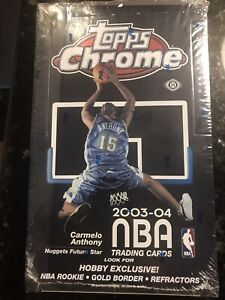2003-04 topps chrome basketball hobby box