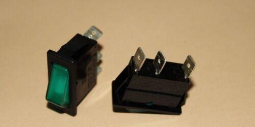 31x13 mm NEU Wippschalter schmal rot bis 16 A inkl Beleuchtung ca