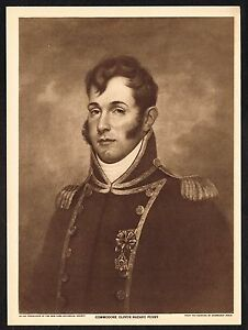 1910s-Antique-Vintage-Commodore-Oliver-Hazard-Perry-Peale-Art-Gravure-Print