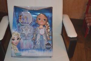 Détails Sur Poupee Neuve Elsa Aurore Boreale Reine Des Neiges Avec Etoile Lumiere Musique