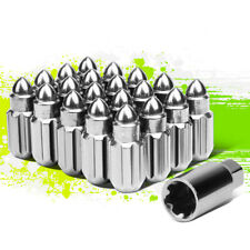 NRG LN-LS500BL-21 20Pcs M12x1.5 50mm Bullet Shaped Close End Wheel Lug Nut w//Key