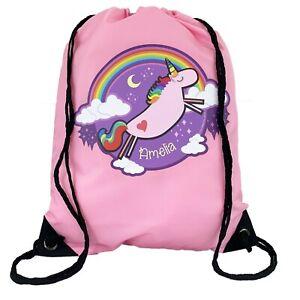 Personalised-Kids-Unicorn-Drawstring-Pink-PE-Bag-Kids-Swimming-Gym-Kit-School