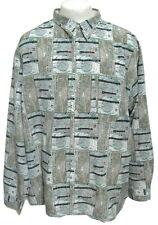 Pelle Pelle Jeans Marc Buchanan Radar Travel Shirt Men XL 2XL Nautical Map Green