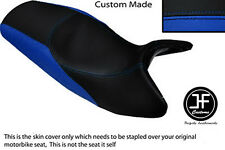 ROYAL BLUE & BLACK VINYL CUSTOM FITS BMW K1200RS K 1200 RS DUAL SEAT COVER ONLY