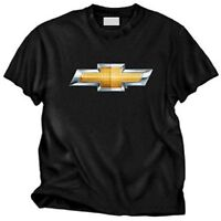 Chevy Bowtie Logo Mens Black Cotton Tee Shirt