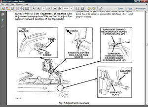Image Is Loading 1996 2000 Chrysler Sebring Convertible Top Adjustment And