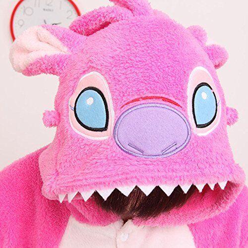 STITCH Blue//Pink Unisex Onesiee Kigurumi Fancy Dress Costume Hoodies Pajamas