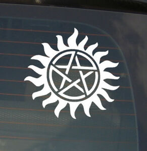 Anti-Possession Symbol Supernatural catholic voodoo demons Decal Sticker for Car