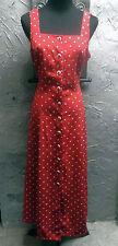 Sheri Martin - Red/White Polka Dot Summer Dress - Size 12P