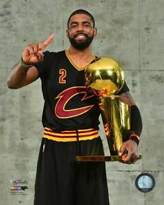 pick up 6918b b9781 Details about 2016 FINALS Kyrie Irving w/ Trophy Cleveland Cavaliers CAVS  LICENSED 8x10 photo