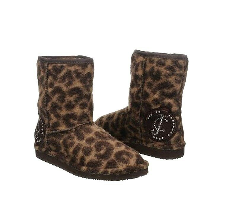 NEW JUICY COUTURE Ollie leopard Print Women Fashion Boots Ankle shoes