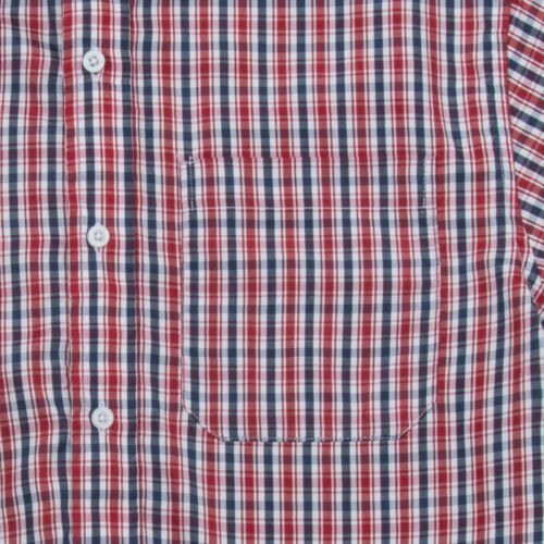 Mens Yarn Dyed Checked Shirt Casual Short Sleeve Regular Everyday Work Top S-2XL