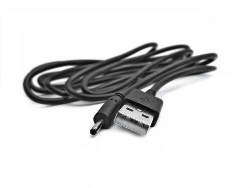 2m USB Black Charger Power Cable for Vtech BM3000 PU Parent Unit Baby Monitor