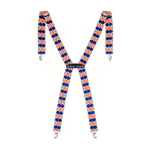 35mm Mens Braces Lycra Spandex Clip On X Shape Suspender Elastic and Adjustable
