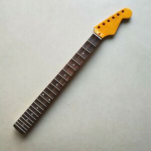 Yellow-Maple-Rosewood-Fretboard-Full-scalloped-Guitar-Neck-parts-Replace-22-Fret