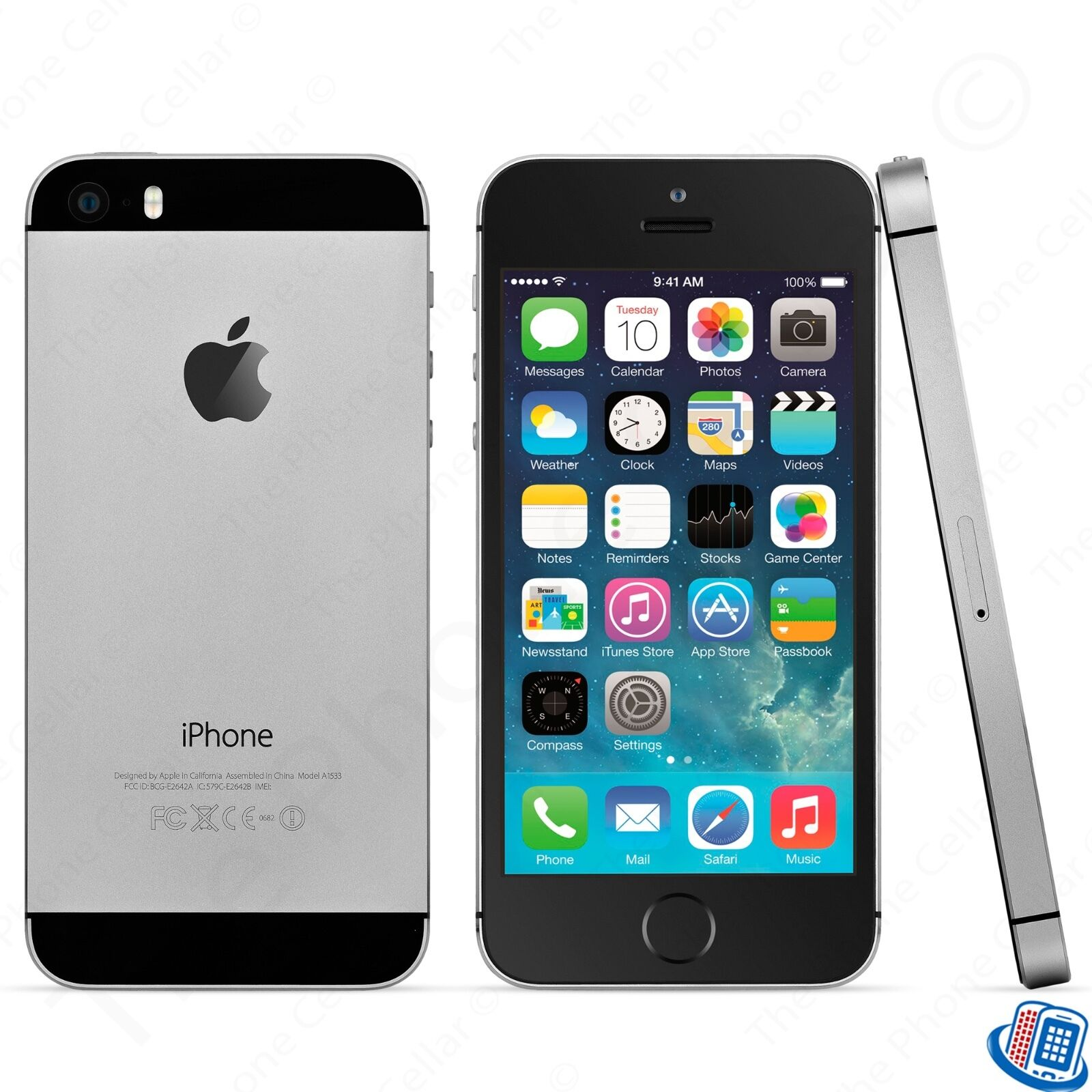 locked verizon prepaid apple iphone 5s 16gb space gray. Black Bedroom Furniture Sets. Home Design Ideas