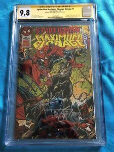 Spider-Man-Maximum-Clonage-Omega-Marvel-CGC-SS-9-8-Signed-by-Lyle-Hanna