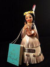 Josef Originals Figurine AMERICA Little Internationals Girl w/ Label & HANG TAG