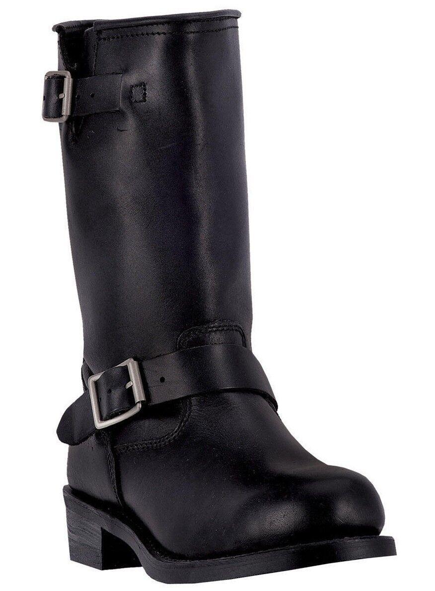 Dingo Rob 01-DI19040-BK para hombres 11  Cuero Negro botas Cómodas de Trucker