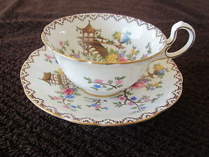 Aynsley Teacup and Saucer 1920's