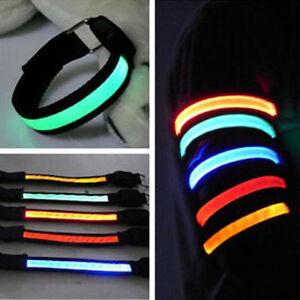 Flashing-Safety-LED-Light-Reflective-Belt-Strap-Arm-Band-Armband-For-RunniSM