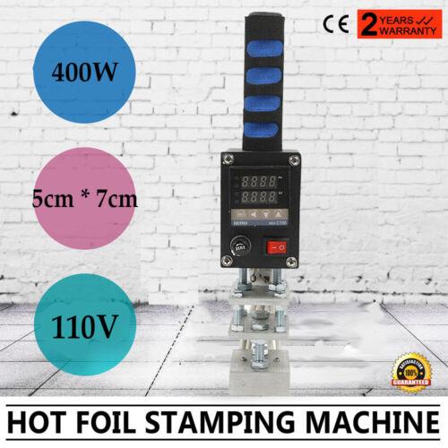 Manual Hot Foil Stamping Machine DIY Logo Mark Craft Brand Unique Handheld Tool