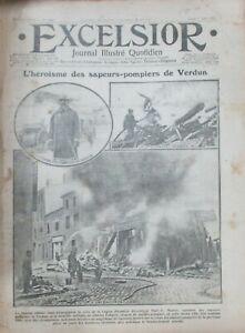 WW1-Journal-Excelsior-of-1916-L-Heroism-of-Sappers-Fire-Verdun-Fire
