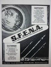 10/1961 PUB SFENA NEUILLY NAVIGATION AERIENNE GYROSCOPES GYROS COMPAS FRENCH AD