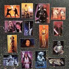 2007USA  #4143 41c Star Wars - Set of 15 Singles - darth vador yoda skywalker