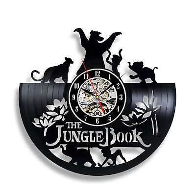 Jungle Book Fairy Tales Adventures for Kids Boys Girls Vinyl Record Wall Clock