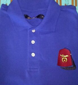 MASONIC-SHRINER-039-S-FEZ-Custom-Embroidered-Polo-Shirt-Mason-SHRINER-Shirt