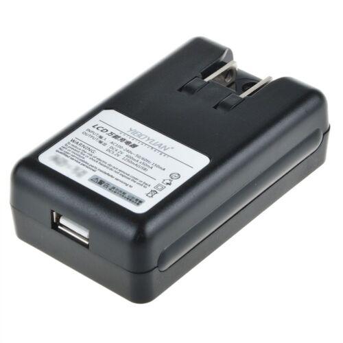 Universal LCD Screen USB AC Phone Battery Li-ion Home Wall Dock Travel Charger