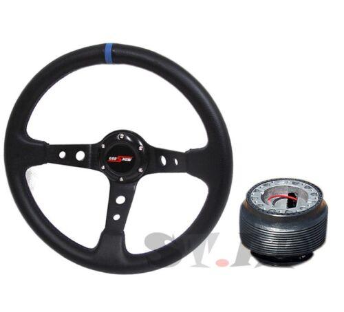 Da9 Ef Godsnow Deep Dish 350Mm Racing Steering Wheel Hub Adapter Black//Blue