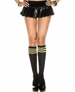 cab6c0aa532 New Music Legs 5734 Athlete Knee High Socks With Multicolor Striped ...