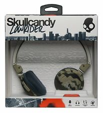 SKULLCANDY Lowrider DJ Style Over Ear Headphones + Mic + Volume Control - CAMO