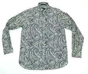 Austin Reed London Mens M L Black White Button Up Ls English Fit Shirt Euc Ebay