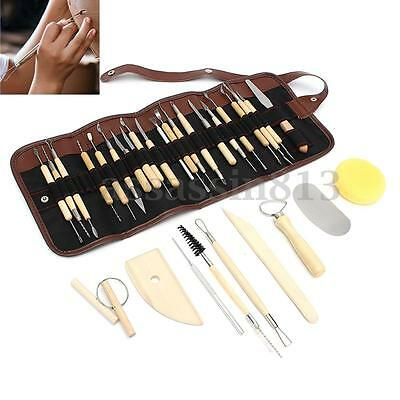 30PCS/Set Pottery Clay Sculpture Carving Modelling Ceramic DIY Craft Tools Kit