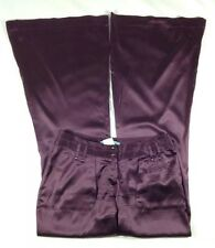 Women's Marciano Dark Purple Silk Pants w/Stretch-Size 4