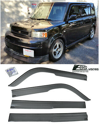 For 04-07 Scion xB WellVisors Side Window Visors w// Black Trim Rain Guard