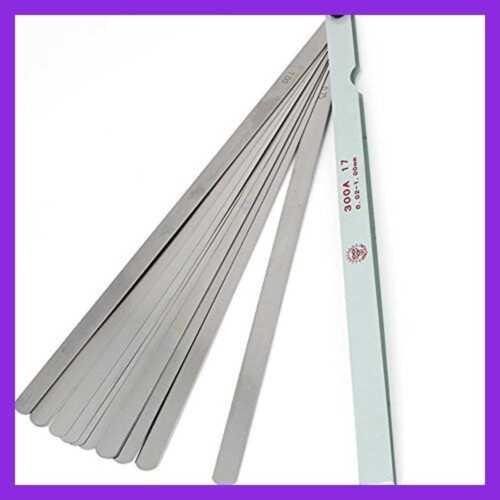 "Metric Feeler Gauge Gap Measurement Tool 300Mm//11.8/"" Long 17 Blades 0.02 1"