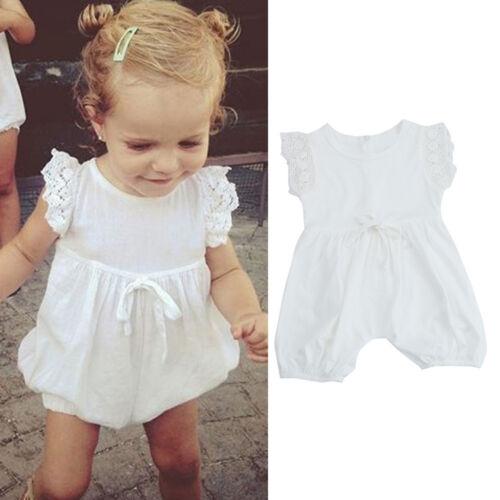 Newborn Children Girl Romper Jumpsuit Harem Pants Sunsuit Outfits Clothes